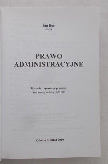 Boć Jan - Prawo administracyjne
