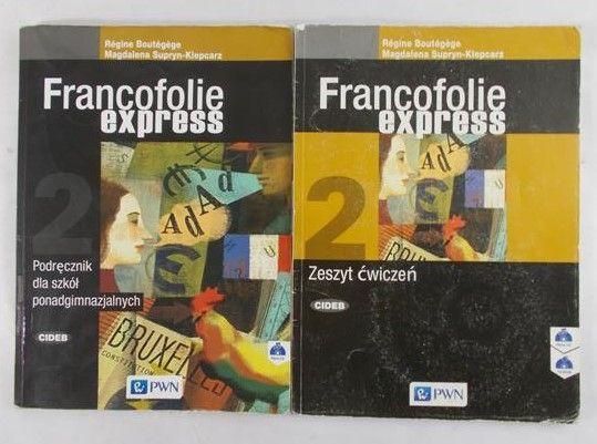 Supryn-Klepcarz Magdalena -Francofolie express 2 Zeszyt ćwiczeń z płytą CD+Podręcznik z 2 płytami CD