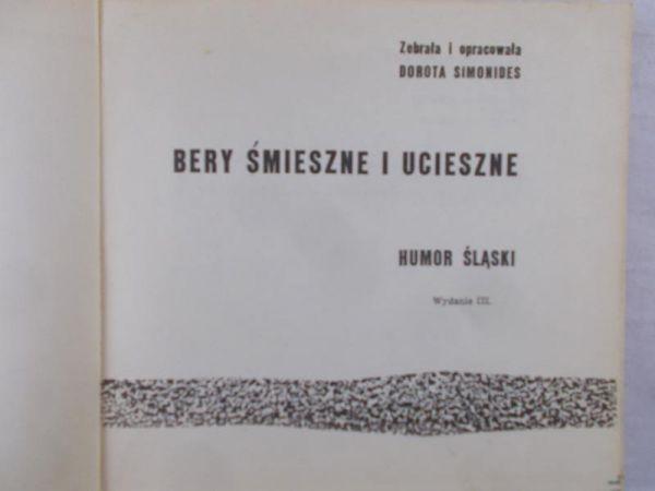 Simonides Dorota - Bery śmieszne i ucieszne