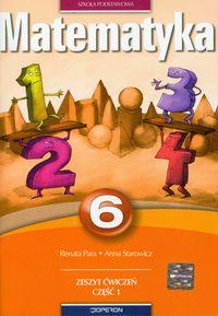Matematyka 6 Zeszyt ćwiczeń Część 1