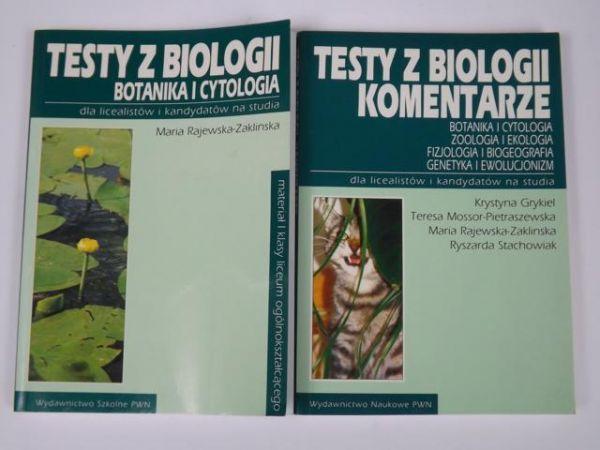 Rajewska-Zaklińska Maria,   - Testy z biologii. Botanika i cytologia, komentarze