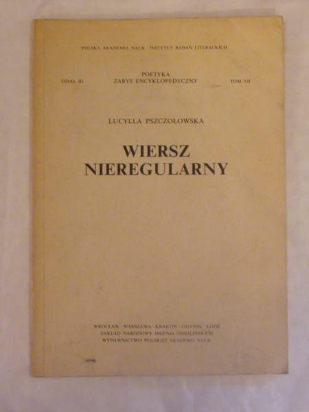 Wiersz Nieregularny Lucylla Pszczołowska 1000 Zł