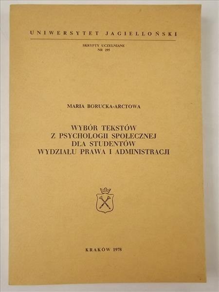 Borucka-Arctowa Maria - Wybór tekstów z psychologii społecznej