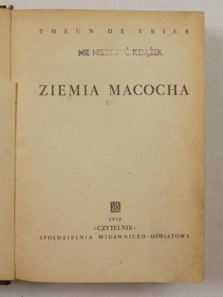 De Vries Theun - Ziemia Macocha