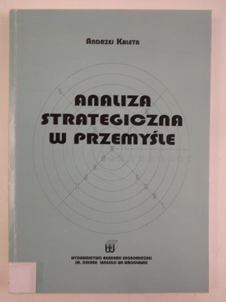 Analiza strategiczna  w przemyśle
