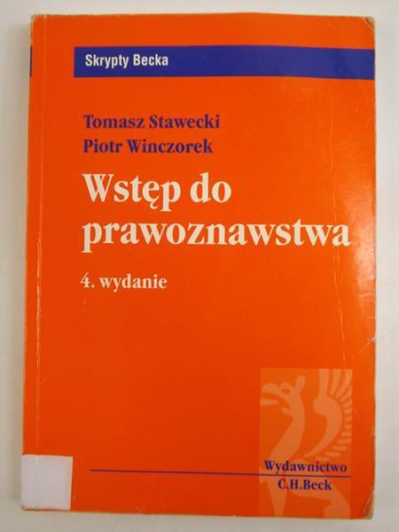 Wstęp do prawoznawstwa, wyd. 4