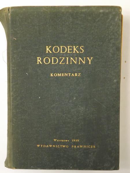 Grudziński Maurycy,    - Kodeks rodzinny. Komentarz