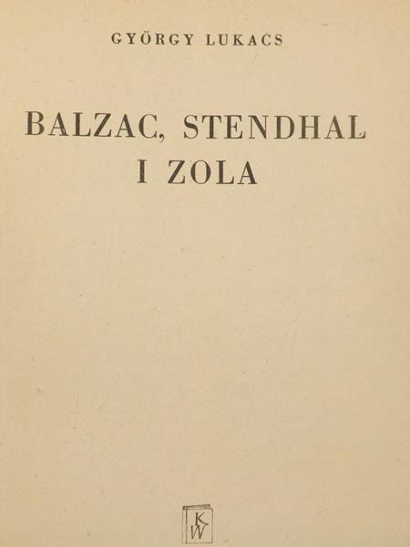 Balzac, Stendhal i Zola