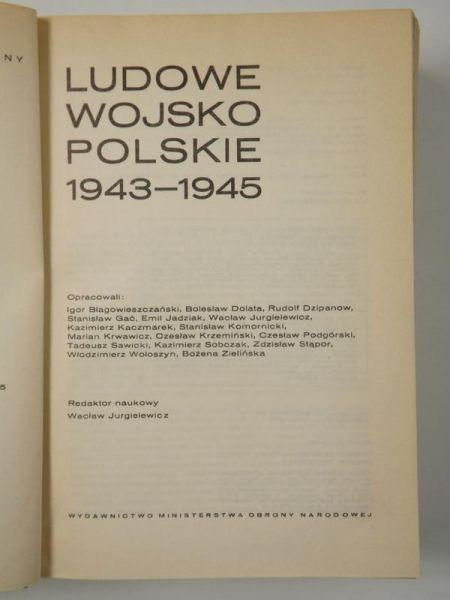 Polski czyn zbrojny w II wojnie światowej - ludowe wojsko polskie 1943-1945