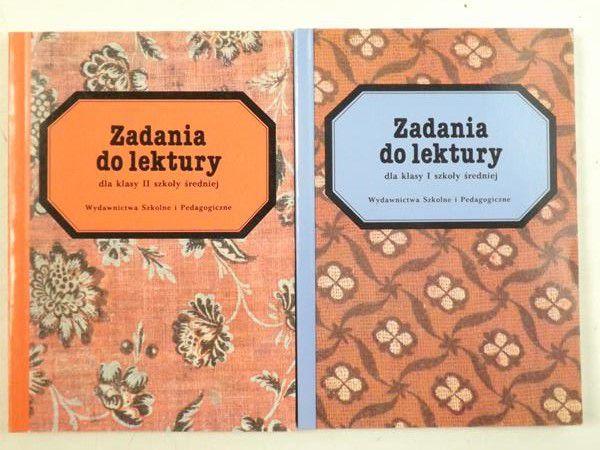Patrzałka Tadeusz,   - Zadania do lektury dla klasy I szkoły średniej / dla klasy II szkoły średniej