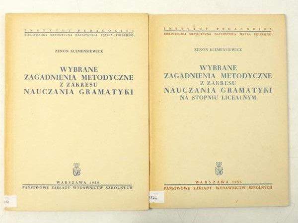 Wybrane zagadnienia metodyczne z zakresu nauczania gramatyki/ Zagadnienia metodyczne na stopniu licealnym