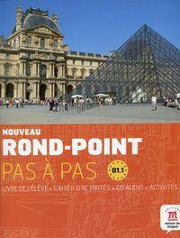 Noveau Rond-Point Pas a Pas B1.1 Livre de l'eleve + Cahier d'activites z płytą CD