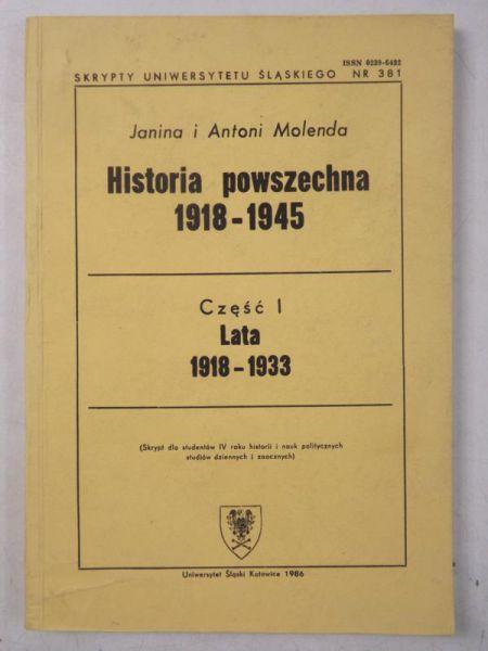 Anton - Hstora powszechna 1918-1945, Cz. 1, lata 1918-1933