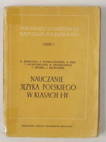 Janiszewska Zofia  - Nauczanie języka polskiego w klasach I-IV