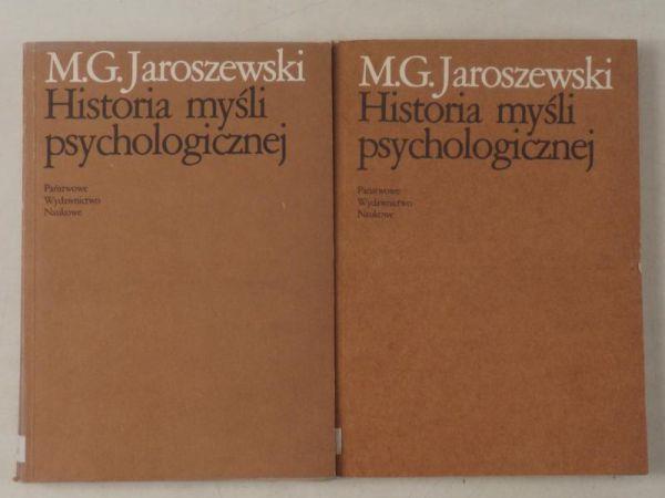 Historia myśli psychologicznej, tom I-II