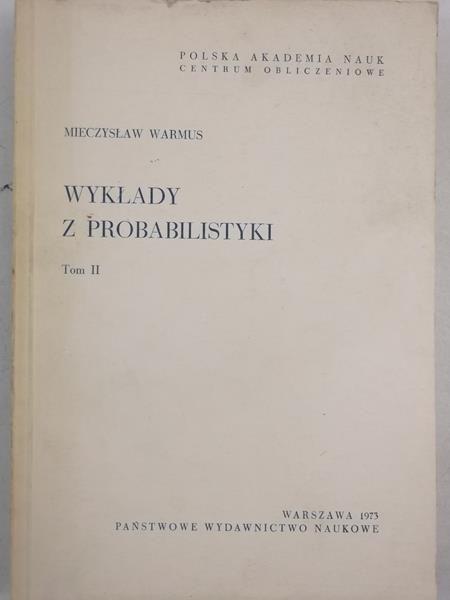 Wykłady z probabilistyki