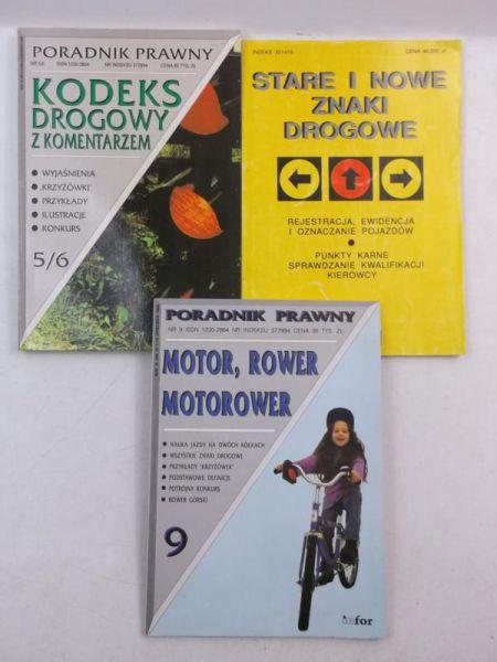 Marczak-Krupa A./Fijałkowski J. - Stare i nowe znaki drogowe/Motorower, rower motorower/Kodeks drogowy z komentarzem