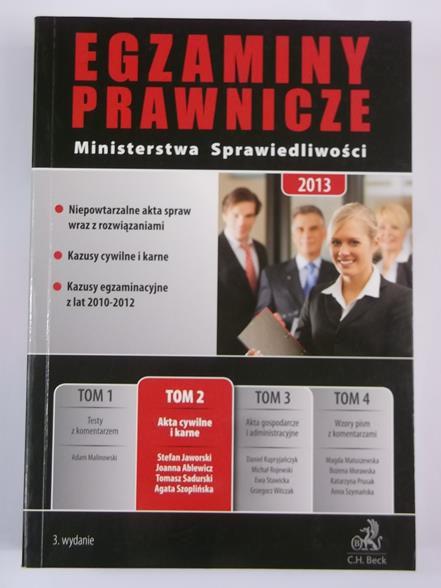 Egzaminy prawnicze Ministerstwa Sprawiedliwości 2013, Tom II