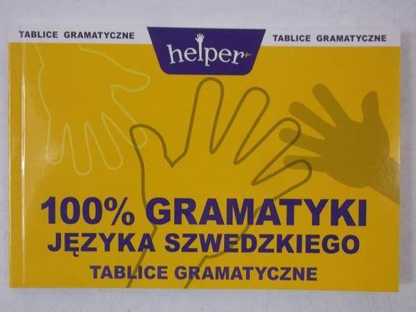 100 % gramatyki języka szwedzkiego. Tablice gramatyczne.