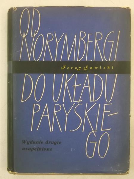 Od Norymbergi do do układu paryskiego, autograf