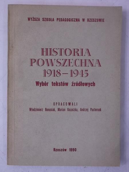 Historia powszechna 1918-1945