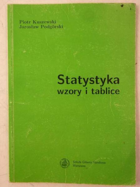 Statystyka wzory i tablice