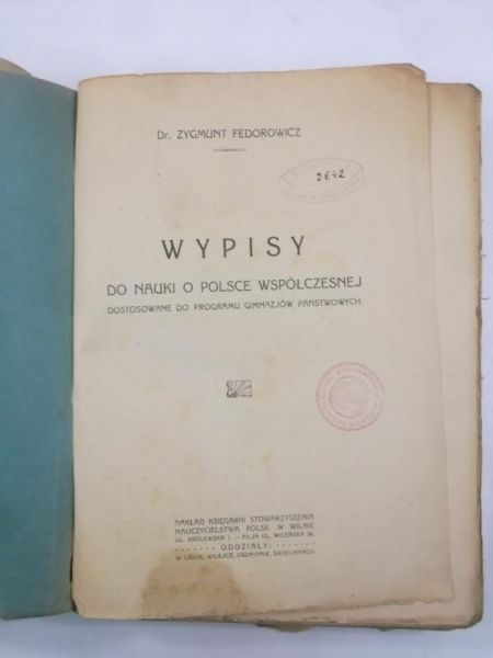 Wypisy do nauki o Polsce współczesnej, 1923 r.