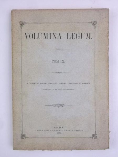 Volumina legum, Tom IX, 1889 r.