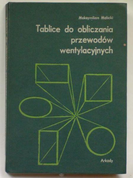 Tablice do obliczania przewodów wentylacyjnych