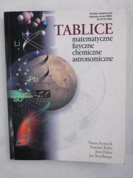 ablice matematyczne, fizyczne, chemiczne, astronomiczne