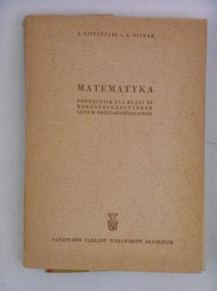 Matematyka. Podręcznik dla klasy XI