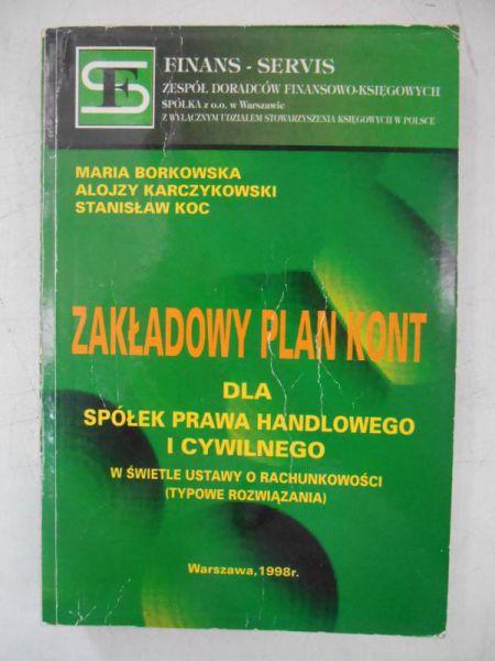 Zakładowy plan kont dla spółek prawa handlowego i cywilnego