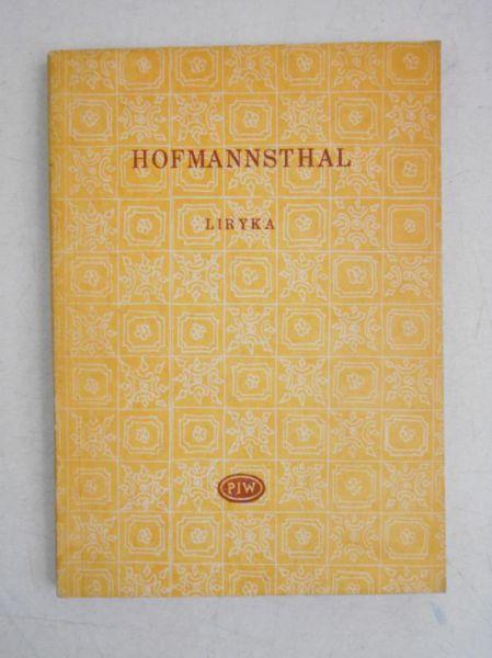 Liryka Wiersze I Dramaty Hugo Hofmannsthal 1050 Zł