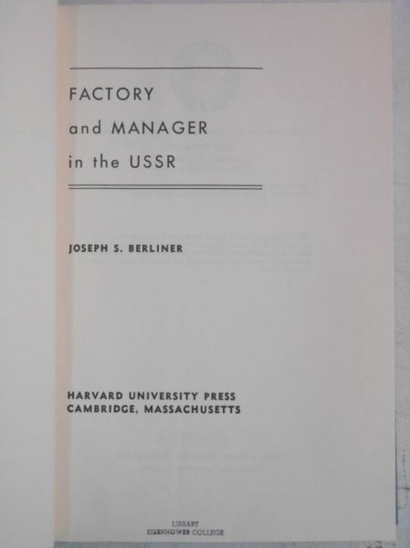 Factory and Manager in the USSR