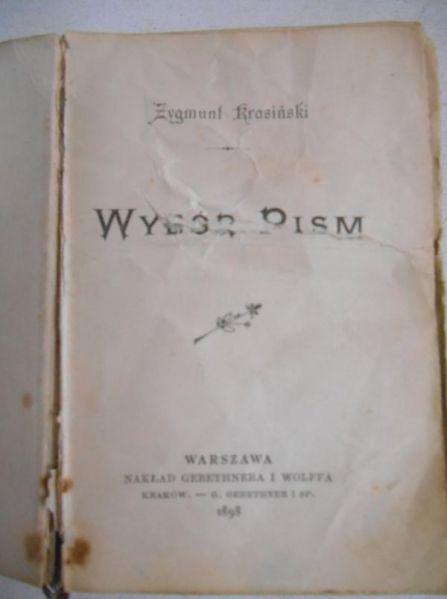 Wybór pism, 1898 r.