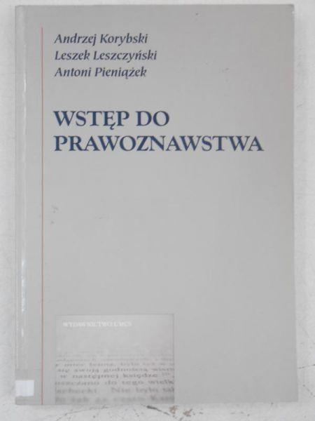 Korybski Andrzej - Wstęp do prawoznawstwa