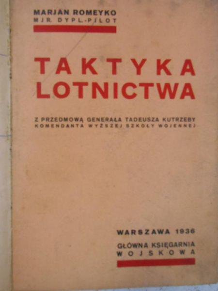 Romeyko Marian - Taktyka lotnictwa, 1936 r.