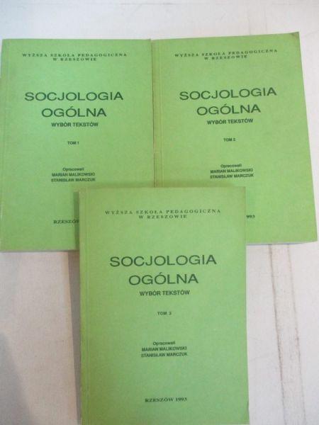 Socjologia ogólna Tom I-III