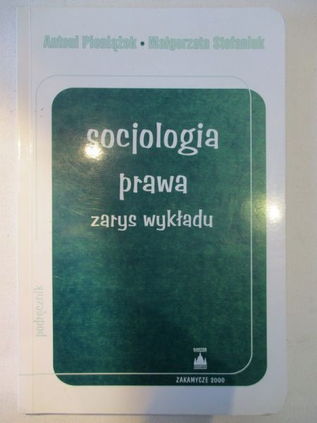 Pieniążek Antoni - Socjologia prawa