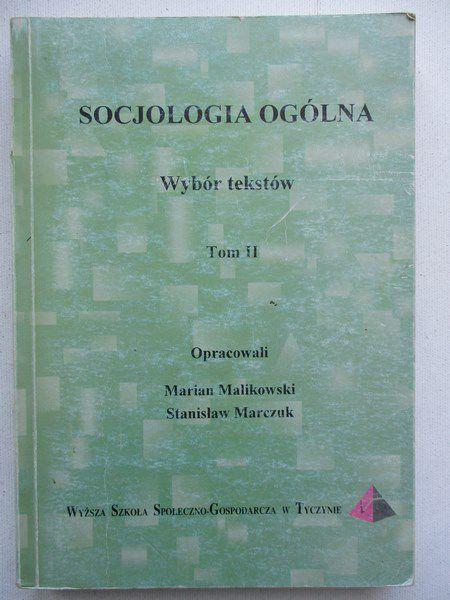 Socjologia ogólna, tom II