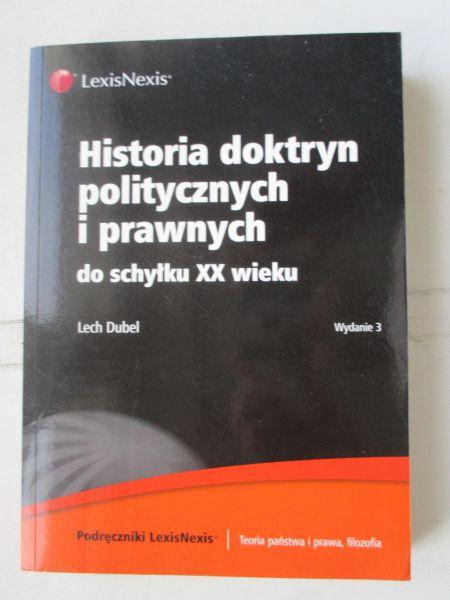 Historia doktryn politycznych i prawnych do schyłku XX wieku