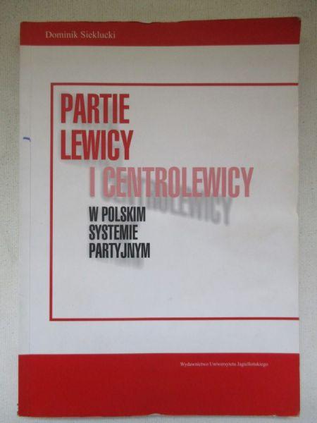 Partie lewicy i centrolewicy w polskim systemie partyjnym