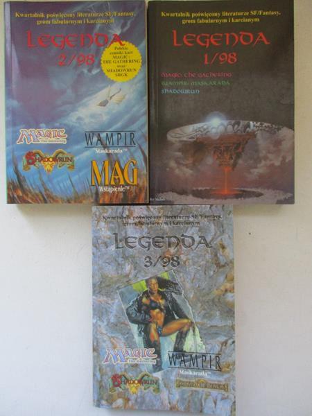 Kwartalnik poświęcony literaturze SF/Fantasy Legend, t I-III