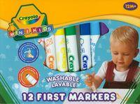 Flamastry Crayola zmywalne Mini Kids 12 sztuk