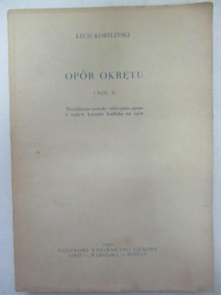 Opór Okrętu cz.II