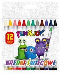 Kredki świecowe Fun&Joy 12 kolorów