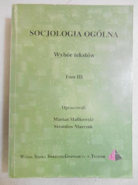 Socjologia ogólna, tom III