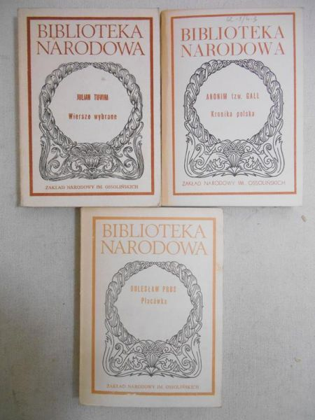 Biblioteka Narodowa, 3 książki