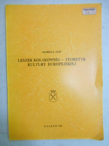 Leszek Kołakowski - teoretyk kultury europejskiej