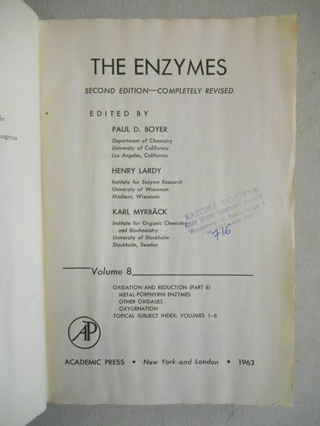 Boyer Paul D. - The Enzymes